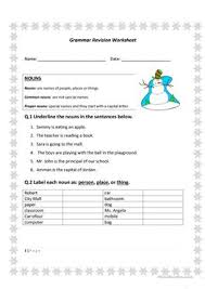 11 free esl proper nouns worksheets