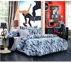 Unique Duvet Covers Queen Blue Camouflage Cool Bedding Sets Queen Full Size For Boys Mens