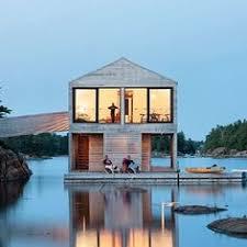 beautiful lake huron floating house by mos inhabitat green on something onsomething mos architects floating house