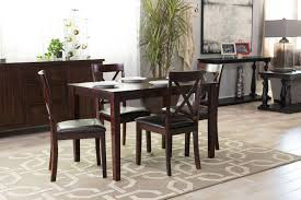 five piece espresso dining set by mb home mathis brothers