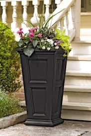 Self Watering Wall Planters Tall Planters Fairfield Self Watering Patio Planter Gardeners Com