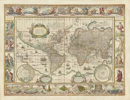 World Map On Wood Planks by The Antiquarium Antique Print U0026 Map Gallery Willem Janszoon Blaeu
