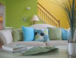 Living Room Exciting Paint Colors For Walls Wonderful With The - Green and yellow color scheme living room