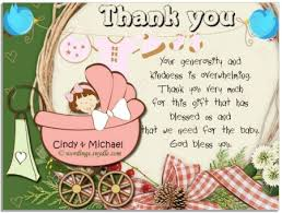 sles of thank you notes what to write on baby shower card for coworker image bathroom 2017