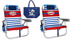 Johnny Bahama Beach Chair Amazon Com 2 Tommy Bahama Backpack Beach Chairs Red White Blue