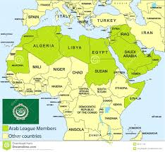 arab countries map map of arab maps of the world