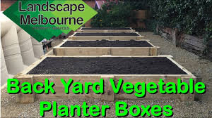back yard vegetable planter boxes youtube