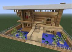 Small House Minecraft Minecraft Easy To Build Modern House Google Search Minecraft