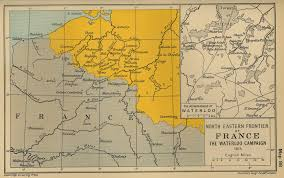 Eastern World Map by Map Of The North Eastern Frontier Of France The Waterloo Campaign