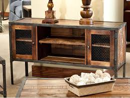 furniture interesting reclaimed wood tv stand for home furniture reclaimed wood tv stand with selves plus wooden floor and cream wall for home interior design