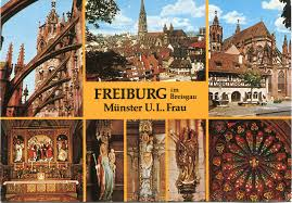 Germany Map Freiburg by Church In Freiburg Im Breisgau Remembering Letters And Postcards