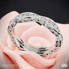 tacori wedding bands tacori 2578b classic crescent ribbon twist diamond wedding ring 2583