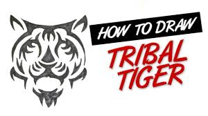 how to draw tribal tiger tattoo design 3 youtube