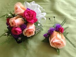 Wristlet Corsage Coral Rose Wrist Corsage In Murrysville Pa Rosebud Floral