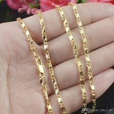 gold colored chain necklace images 2018 8 sizes available gold color slim box chain necklace womens jpg