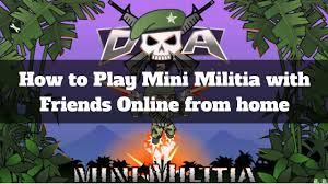 how to play doodle army 2 mini militia with your friends online