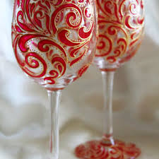 shop painted wine glass sets on wanelo