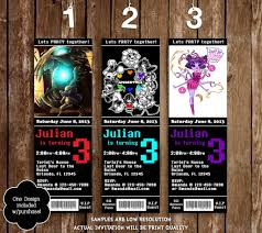 graphic design birthday invitations novel concept designs undertale game ticket birthday invitation