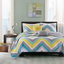 Blue Yellow And Grey Bedroom Ideas Bedroom Blue And Gray Chevron Bedding Medium Bamboo Decor Blue