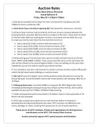silent auction rules sheet google search non profit strategy