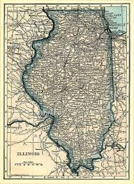 Map Of Iowa And Illinois by Illinois State Map With Parts Of Iowa And Missouri Digital