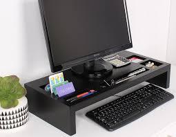 Post It Desk Organizer Wood Monitor Riser Desk Organizer