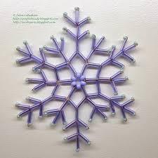 snowflake of bugles free detailed tutorial free beading