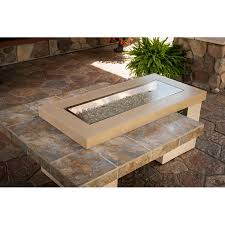 uptown gas fire pit table brown