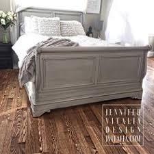 Grey Sleigh Bed Sleigh Bed Gray Handpainted Custom Orderd By Vitaliadesign
