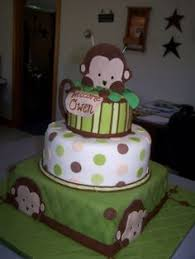 cake i made for monkey themed baby shower cake u0026 cupcakes