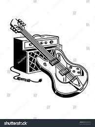 chocolate martini clipart electric guitar amplifier retro clipart illustration stock vector