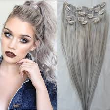 18 Remy Human Hair Extensions by Grey Clip In Human Hair Extensions Tape On And Off Extensions