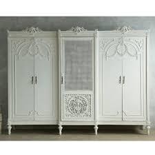 Victorian Armoire Wardrobe Vintage Louis Xvi Style Wardrobe Cane Grey French Rose Swag 5 Door