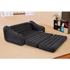 queen size convertible sofa bed the inflatable queen size sleeper sofa hammacher schlemmer