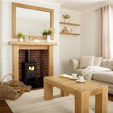 oak fire surround kensington solid french rustic beam