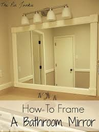 bath mirror frame ideas rustic crafts u0026 chic decor