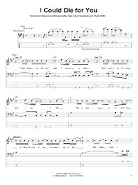 i could die for you sheet music direct