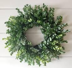eucalyptus wreath farmhouse faux greenery wreath frosted eucalyptus wreath