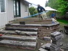 Patio Flagstone Prices The Price Of Raising A Stone Paver Patio Vs Building A Composite