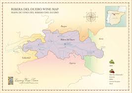 Burgos Spain Map by Ribera Del Duero Wine Region Map Cellartours
