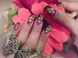 summer bright flower nail art design nail art gallery