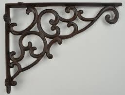 cast iron shelf brackets wall shelf brackets ornate crafting