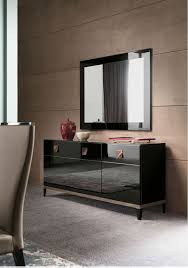 Black Gloss Sideboards Savina Black Dining Furniture High Gloss Em Italia
