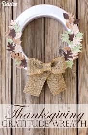 thanksgiving wreaths diy diy thanksgiving decor gratitude wreath darice