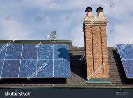 Old Fashioned House Solar Panel On Roof Oldfashioned House Stock Photo 16422082