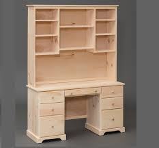 Pine Desk With Hutch Amish Built Shaker Pine Desk