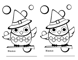 Printable Halloween Pages Free Printable Halloween Owl Coloring Page Pic 508359 Coloring