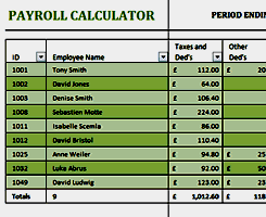 Free Excel Payroll Template Free Payroll Template Word Excel Formats