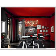 red and black dining room gothic decor pinterest room black