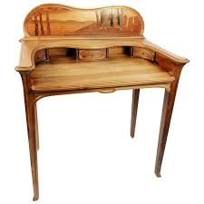 Writing Desk With Chair Art Nouveau Inlaid Writing Desk And Chair For Sale At 1stdibs